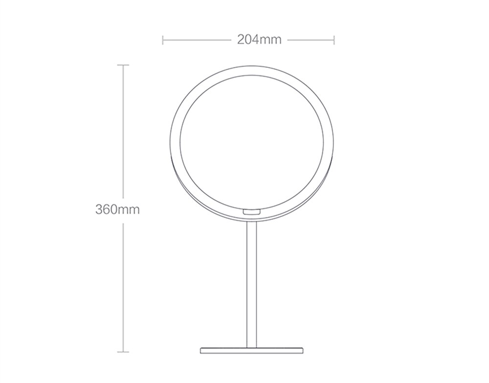 Настольное зеркало Xiaomi Yeelight LED Sensor Makeup Mirror - 5